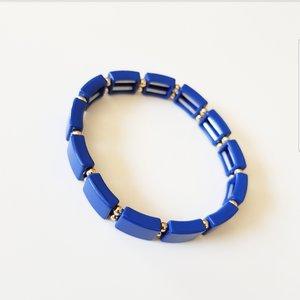 Pulseira de silicone azul