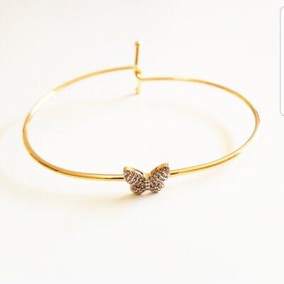 Bracelete Borboleta Cravejado