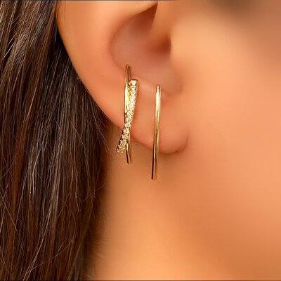 Brinco Ear Hook Fileiras