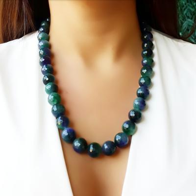 Colar Pedra Natural Jade Mescla