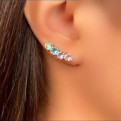 Brinco Ear Cuff Pedra Color