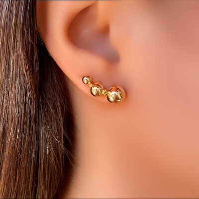 Brinco Ear Cuff Balls