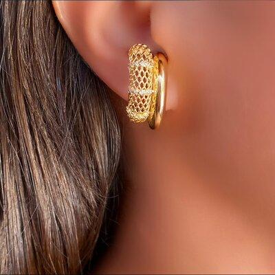 Brinco Ear Hook Tela