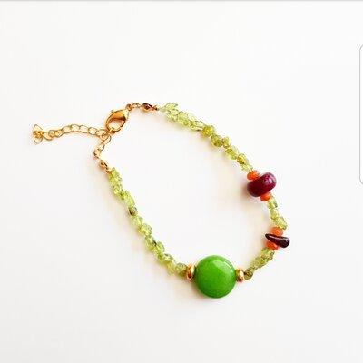 Pulseira Com Pedra Natural Green