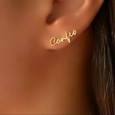 Brinco Entrego- Confio (Um Brinco para cada orelha)