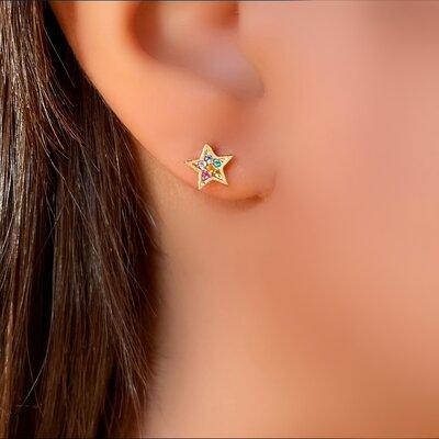 Brinco Estrela Color