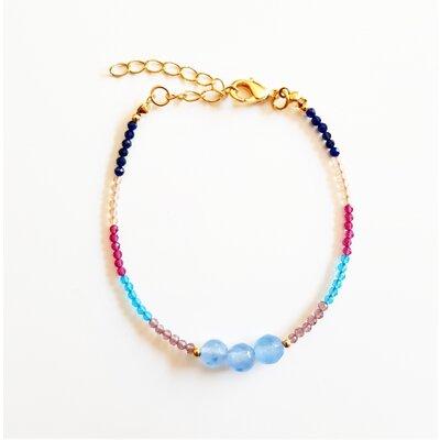 Pulseira com Espinélio Color e Jade Azul