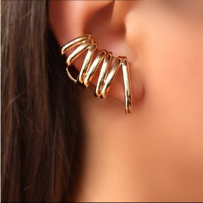 Brinco Ear Cuff com Piercinf Falso