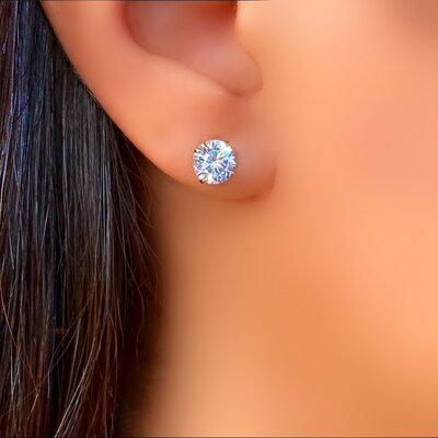Brinco Prata 925 Zircônia Cristal