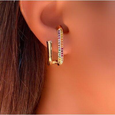Brinco Ear Hook Cravejado Color