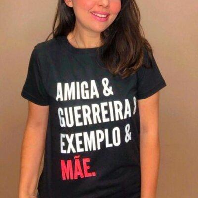 T-shirt Amiga&Guerreira&Exemplo&Mãe