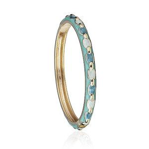 Bracelete Esmaltado Chain Azul