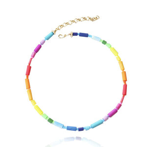 Colar Choker Vinil Rainbow