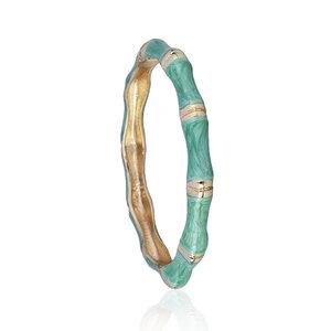 Bracelete Esmaltado Bambu Blue