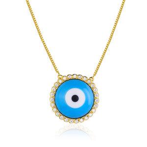 Colar Olho Grego Jewel Turquoise Gold