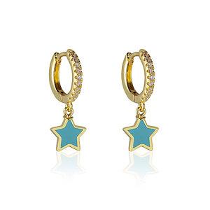 Brinco Argola Stars Blue