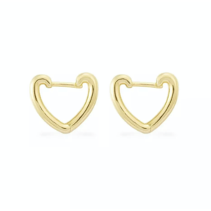 Brinco Argola Heart Gold P