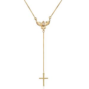 Colar Gravatinha Espirito Santo Dourado