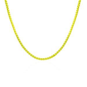 Colar Malha NV Amarela Neon