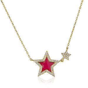 Colar Estrela Esmaltada