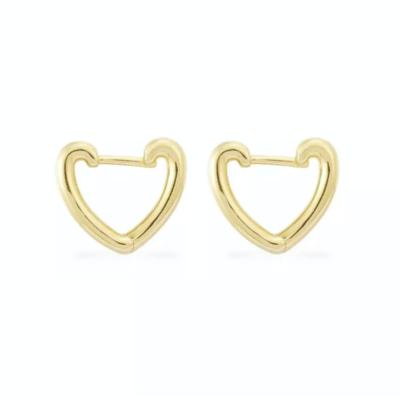 Brinco Argola Heart Gold M