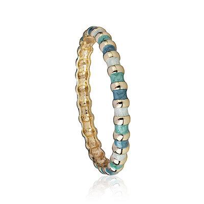 Bracelete Esmaltado Argolas Blue