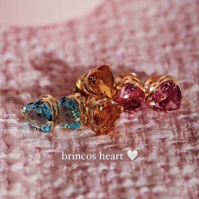 Brinco Coração Colors