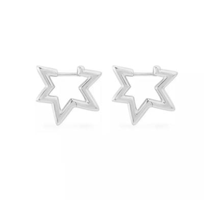 Brinco Argola Star White