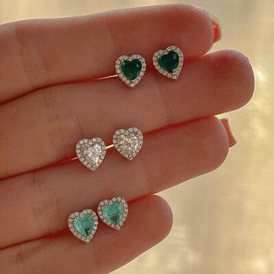 Brinco Mini Coração Prata