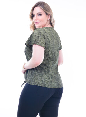 Blusa Plus Size Animal Print