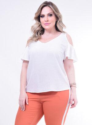 Blusa Plus Size Recortes