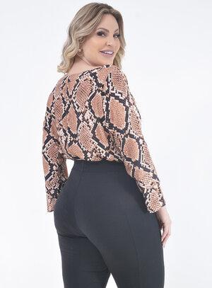 Blusa Plus Size Animal Print