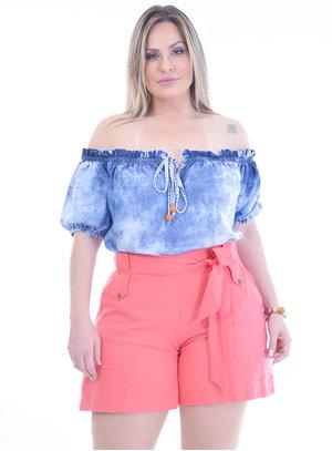 Blusa Plus Size Glacial