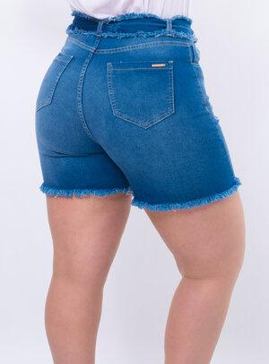 Short Plus Size Barra Desfiada