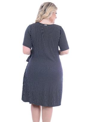 Vestido Melinde Listrado Plus Size