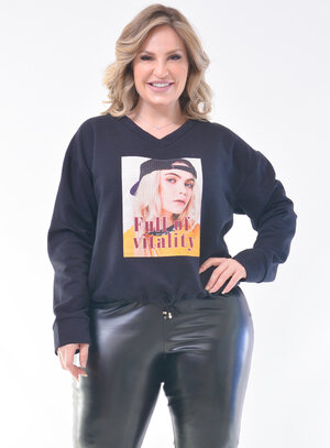 Moletom Plus Size Casual
