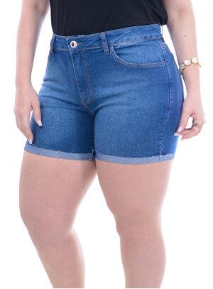 Short Jeans Attribute Barra Italiana Plus Size