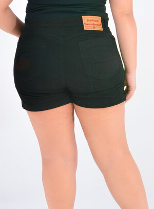 Short Jeans Plus Size Preto