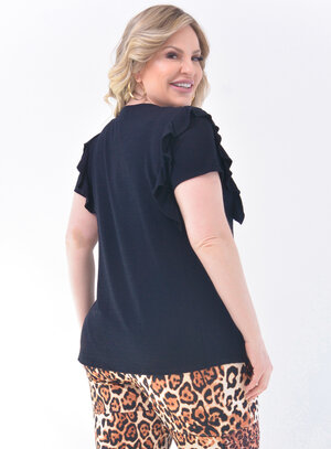 T-Shirt Plus Size Strass