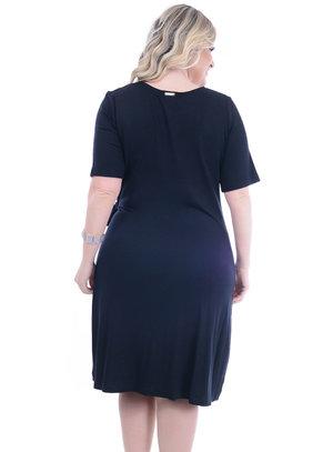 Vestido Melinde Preto Plus Size