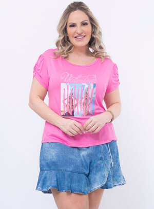 T-Shirt Plus Size Strass