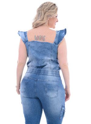 Blusa Jeans Plus Size Virgem