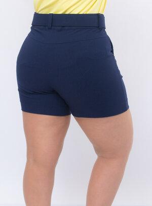 Short Plus Size Azul Marinho