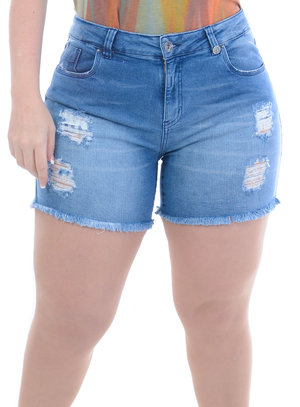 Shorts Jeans Plus Size Eva