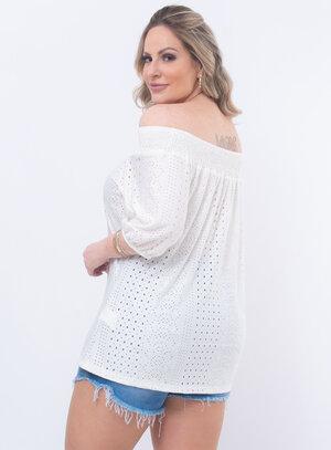 Blusa Plus Size Malha Laise