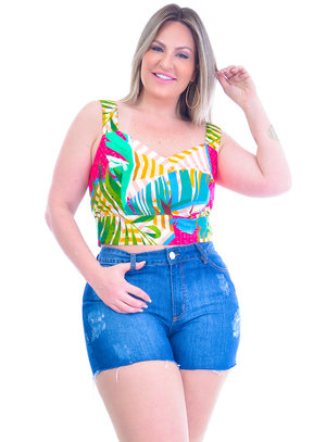 Cropped Plus Size Vânia