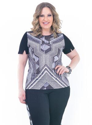 Blusa Plus Size Confortável Preta