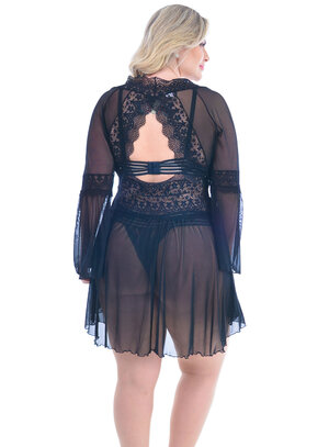 Robe Plus Size Preto