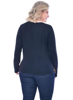 Blusa Plus Size Transpassada