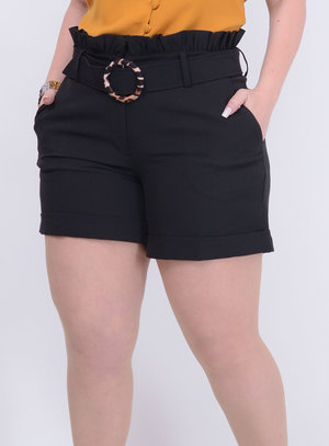 Short em Alfaiataria Clochard Plus Size